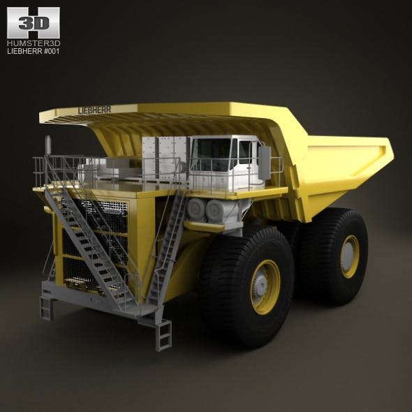 Liebherr T 282B Dump Truck 2012 - 3DOcean Item for Sale
