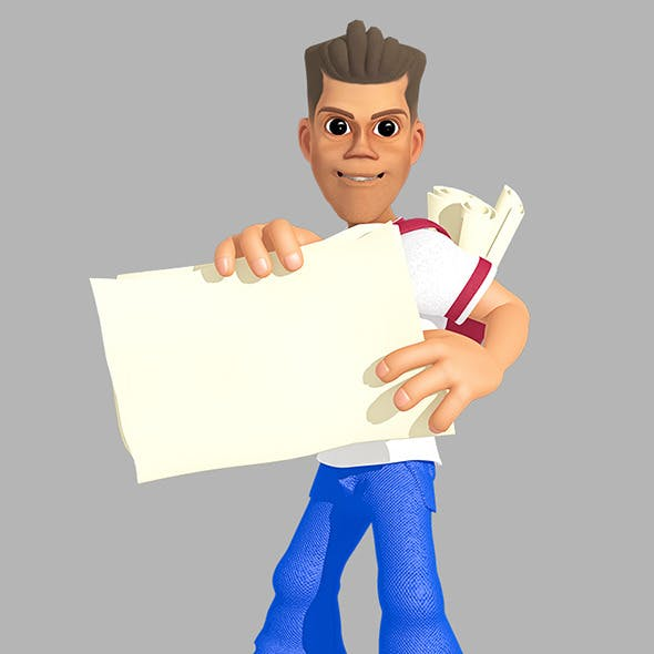 Paperboy 3D Character