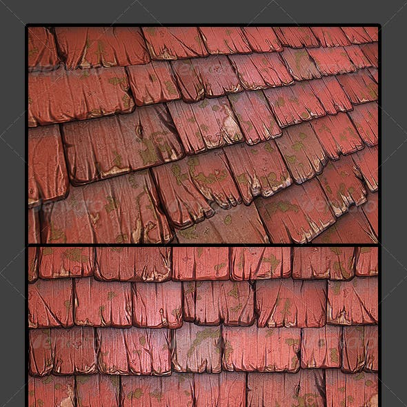 Wooden Roof Tile 01
