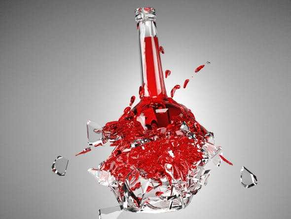 Exploding Bottle with Material - 3DOcean Item for Sale