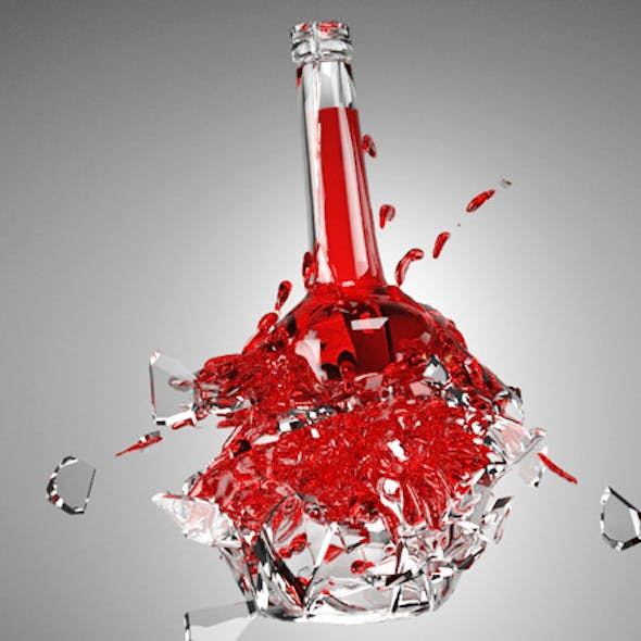 Exploding Bottle with Material