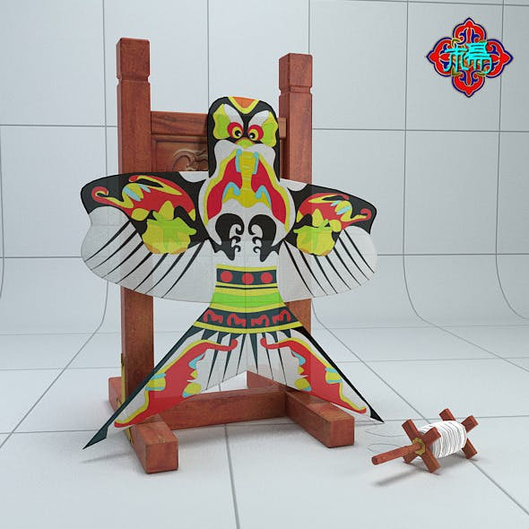 Chinese traditional kite - 3DOcean Item for Sale
