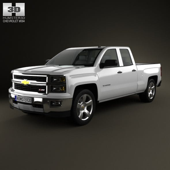 Chevrolet Silverado Extended Cab Z71 2014 - 3DOcean Item for Sale