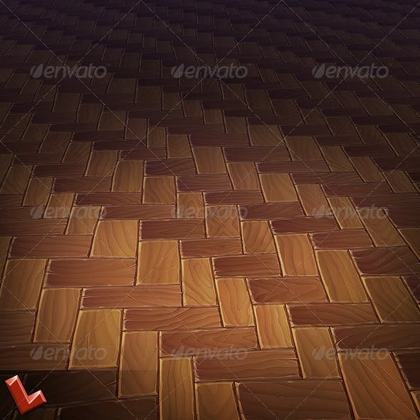 Wooden Floor Tile 01