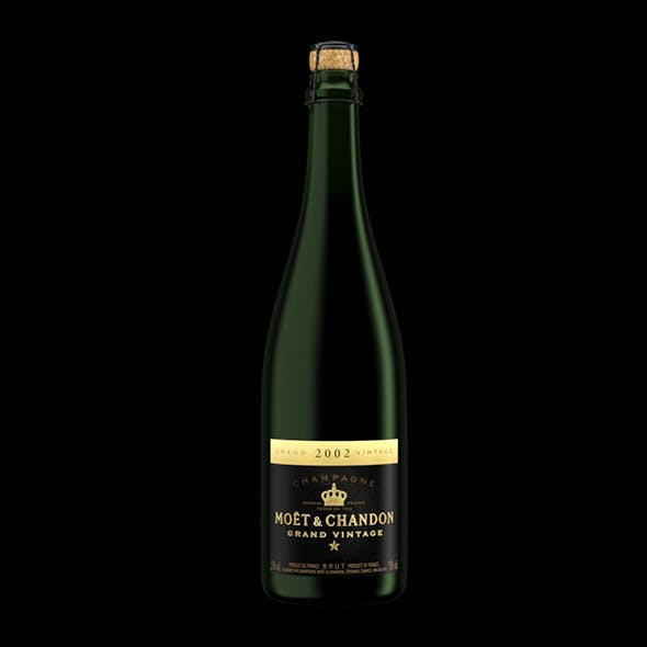 Bottle of Champagne Grand Vintage - 3DOcean Item for Sale