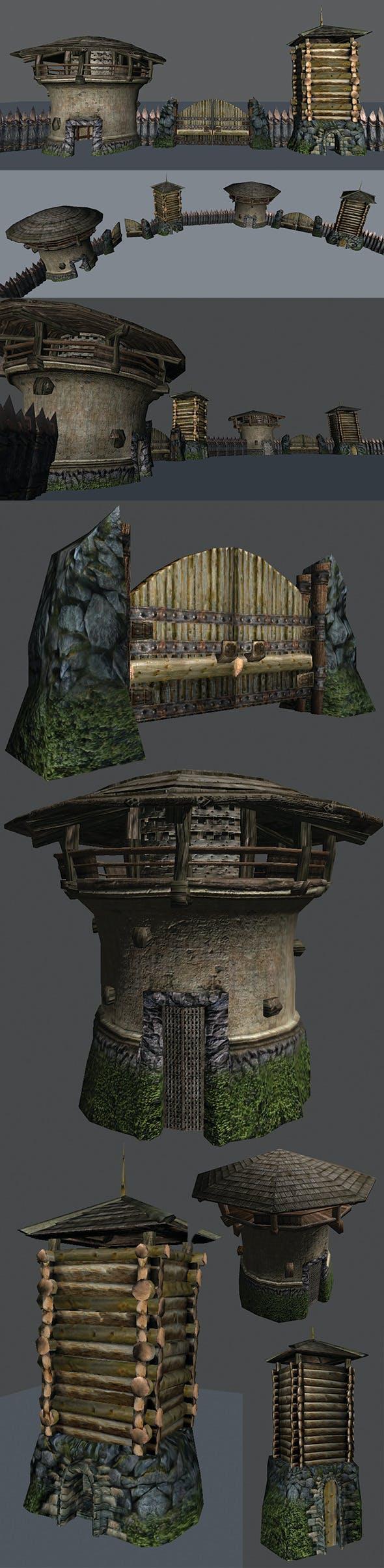 Fort Elements Pack - 3DOcean Item for Sale