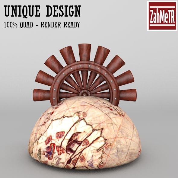 Penholder Concept Piri Reis 2 - 3DOcean Item for Sale