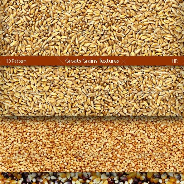 Groats Grains Surface Textures