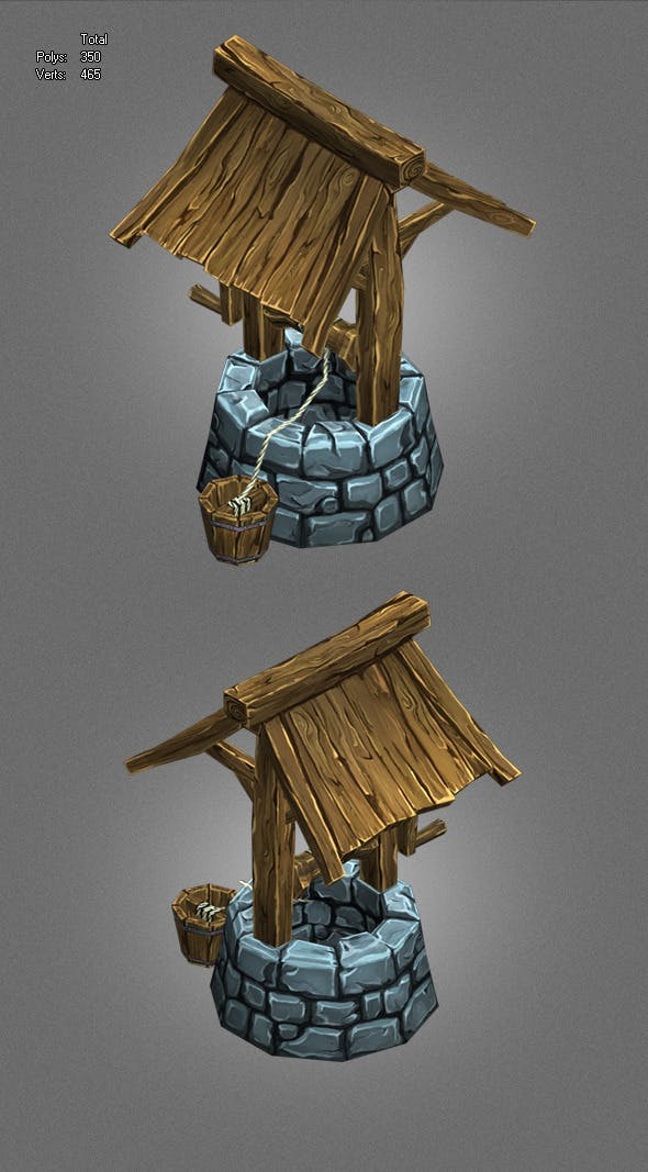 low poly well_1 - 3DOcean Item for Sale