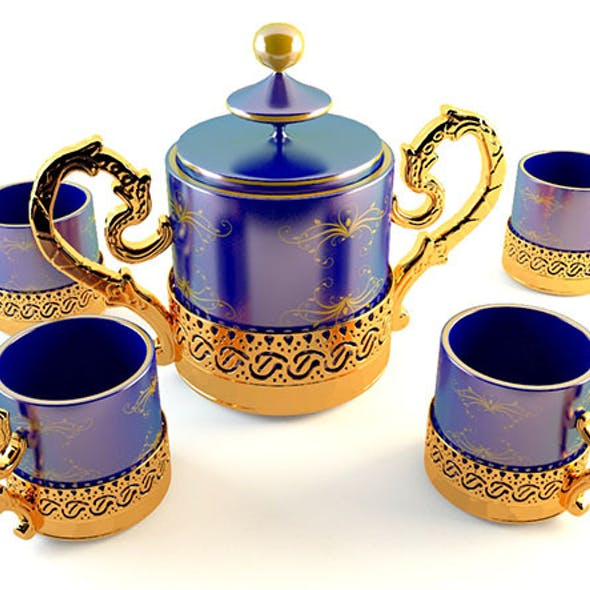 Golden Tea Coffee Set