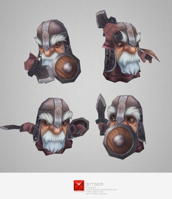 Low Poly Micro Knight Balan - 3DOcean Item for Sale