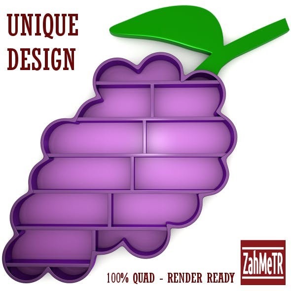 Grape Bookshelf Unique Concept Design