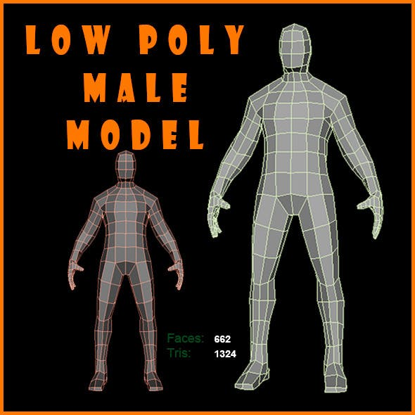 Low Poly Male Model