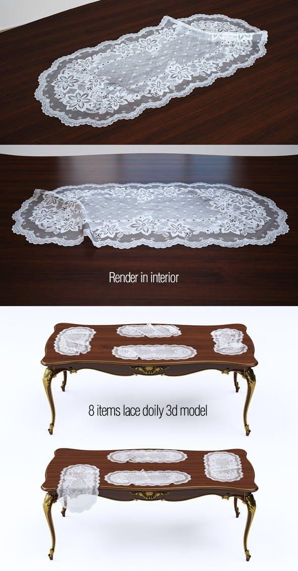 3d model lace doily. 8 items - 3DOcean Item for Sale