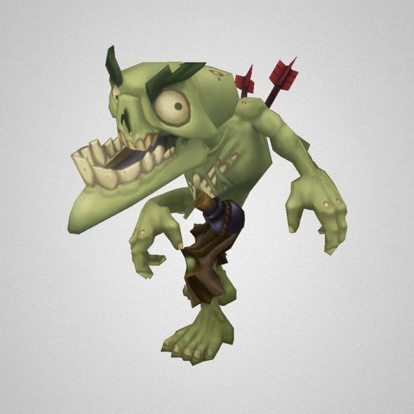 Low Poly Zombie Snapper