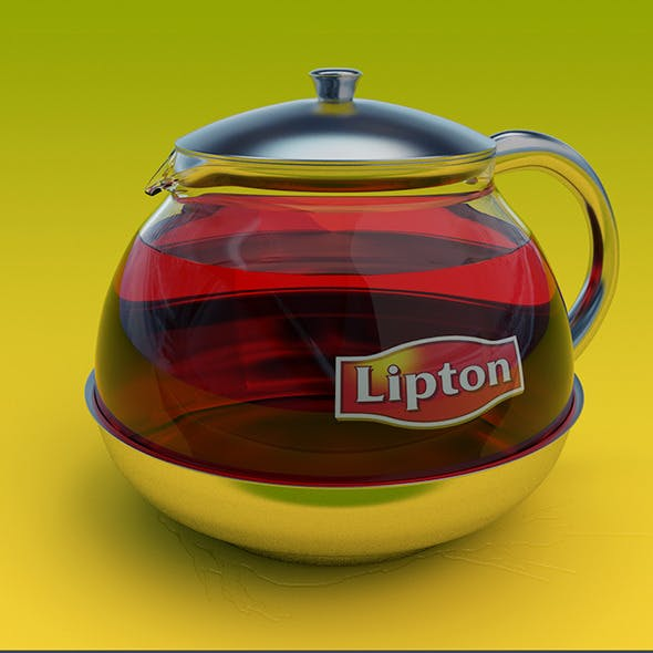 Lipton Glass Teapot - 3DOcean Item for Sale