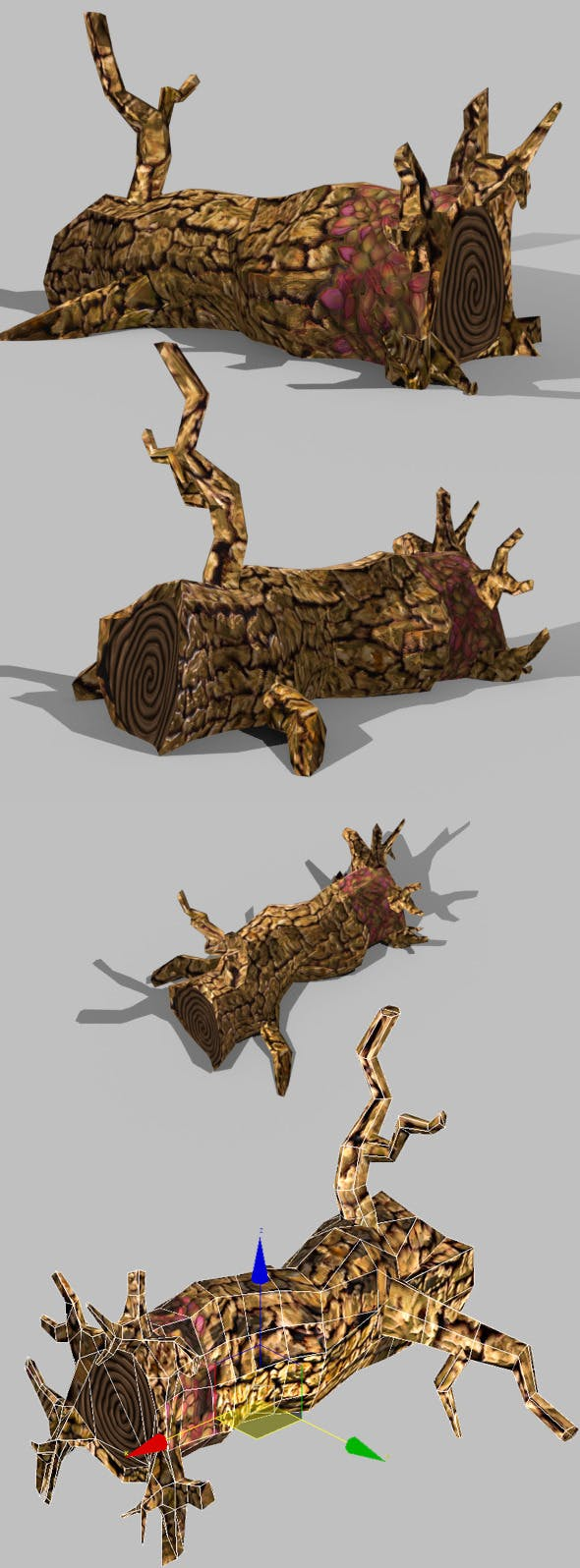Toon Textured Dead Tree - 3DOcean Item for Sale