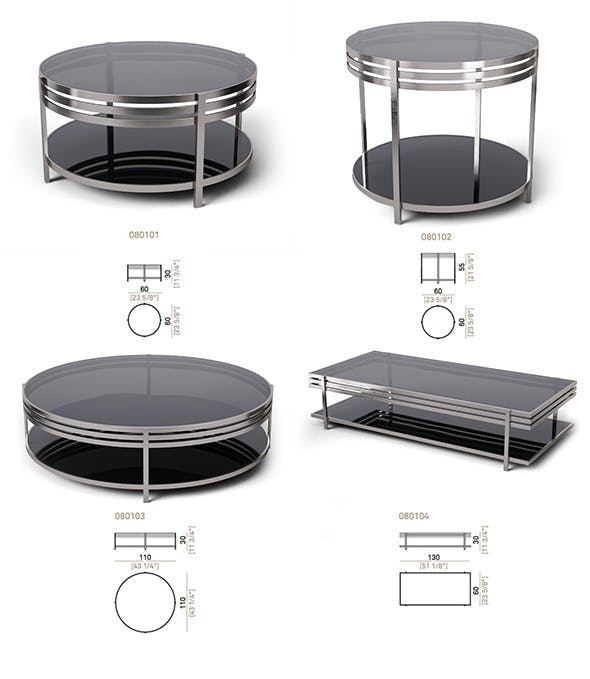 Set tables Arketipo Ula. 4 items - 3DOcean Item for Sale