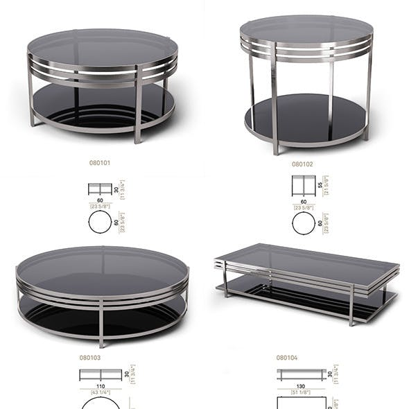Set tables Arketipo Ula. 4 items