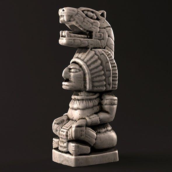 Mayan Warrior Statue