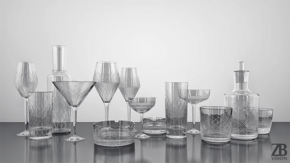 Zwiesel Homage Comete Glassware Collection - 3DOcean Item for Sale