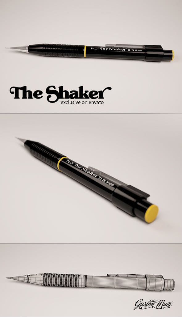 The Shaker - 3DOcean Item for Sale