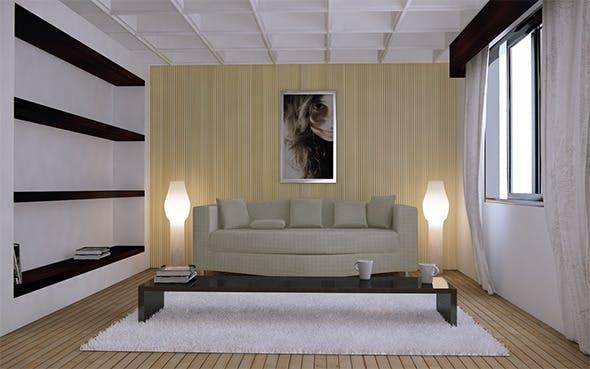 Living Room Render Setups & Scene. (Vray) - 3DOcean Item for Sale