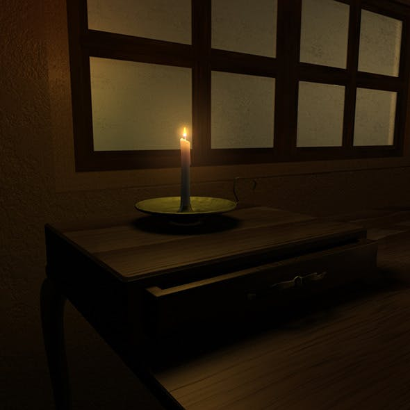 Candlestick and Desk - 3DOcean Item for Sale