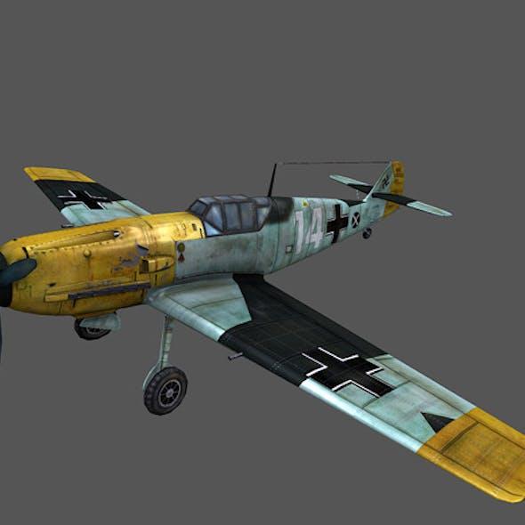 Low poly plane 3D ME-109