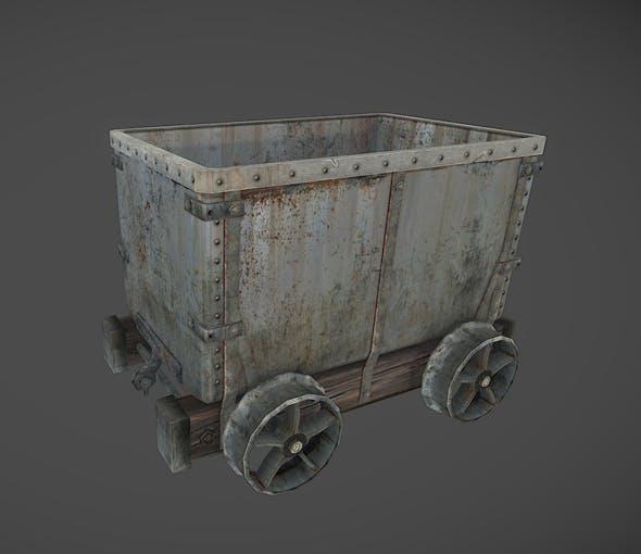 Mine wagon / cart - 3DOcean Item for Sale