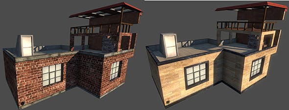 Low Poly Building B - 3DOcean Item for Sale
