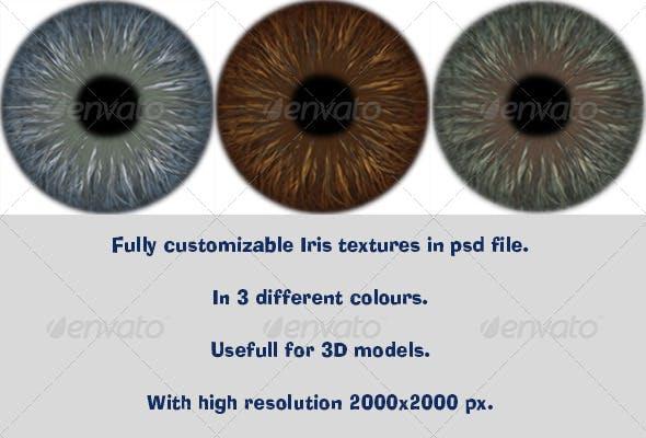 Realistic Iris Texture - 3DOcean Item for Sale