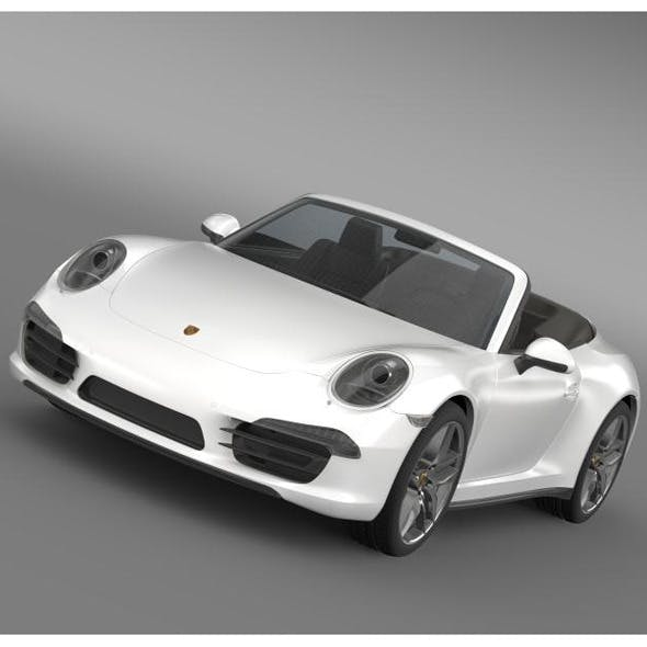Porsche 911 Carerra Cabrio 2013 - 3DOcean Item for Sale