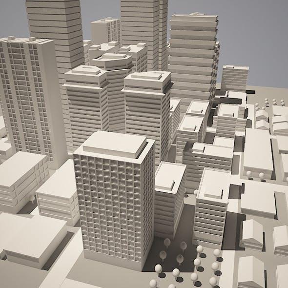 City Simple Model  - 3DOcean Item for Sale