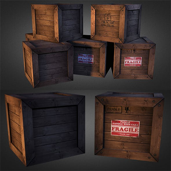 Crates 01 - 3DOcean Item for Sale