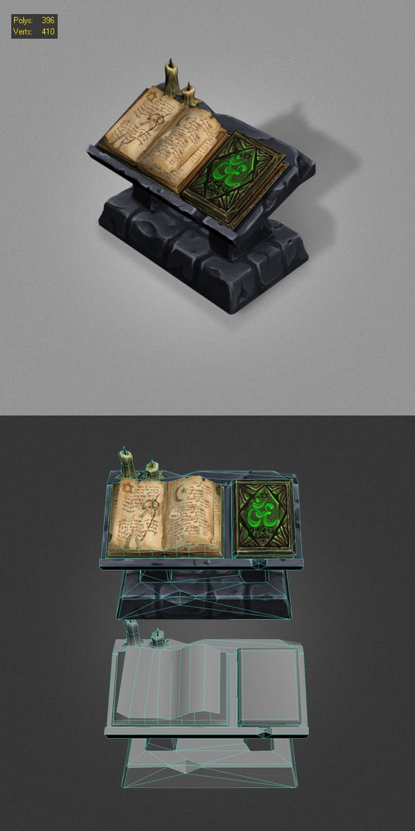 old book low poly - 3DOcean Item for Sale
