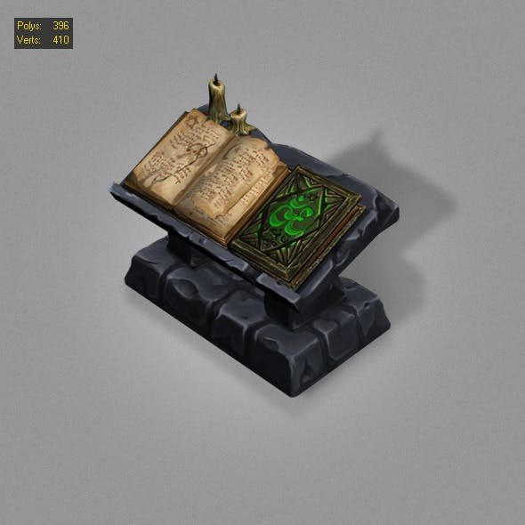 old book low poly