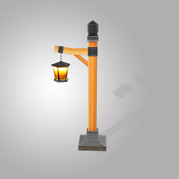 Street Light Low Poly