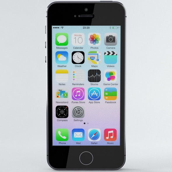 Apple iPhone 5s Space Grey - 3DOcean Item for Sale