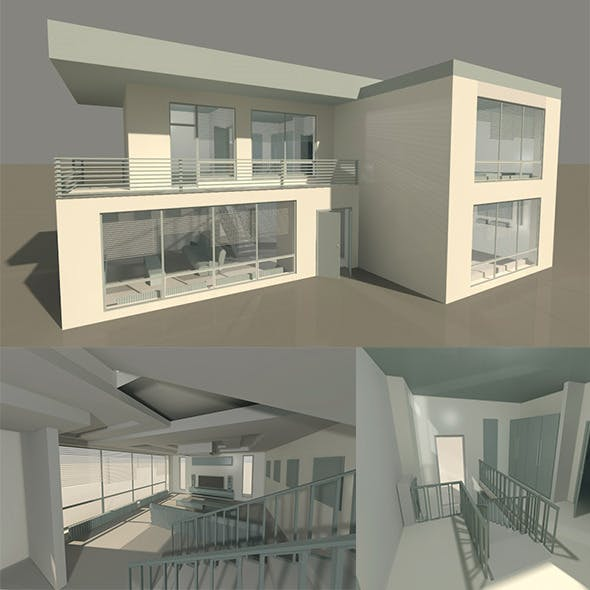 HOUSE interior exterior - 3DOcean Item for Sale