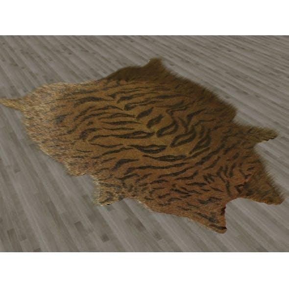 Tiger Skin Fur Rug - 3DOcean Item for Sale