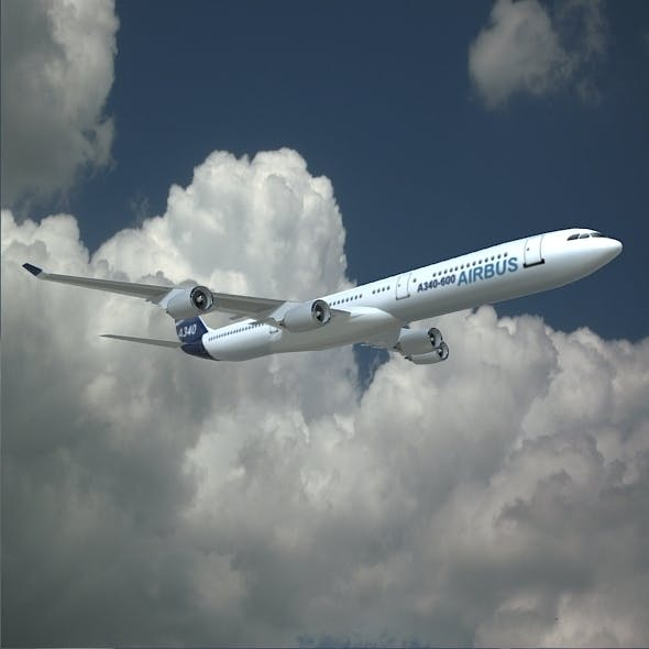 Airbus A340-600 commercial aircraft - 3DOcean Item for Sale
