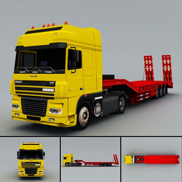 DAF FX  (truck) Low-Poly