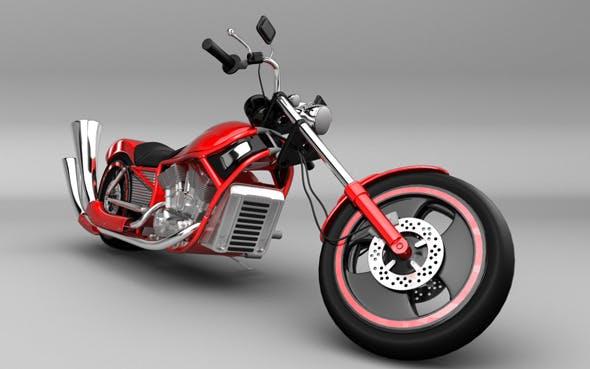 Motorcycle Harley Style - 3DOcean Item for Sale