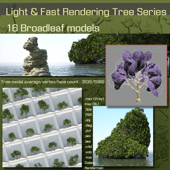 16 Broadleaf models