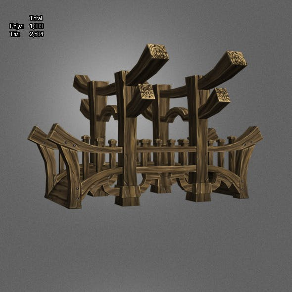 Wooden Bridge Low Poly