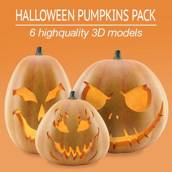 Halloween Pumpkins Pack - 3DOcean Item for Sale