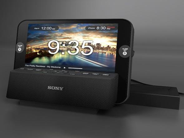 Sony Radio Alarm - 3DOcean Item for Sale