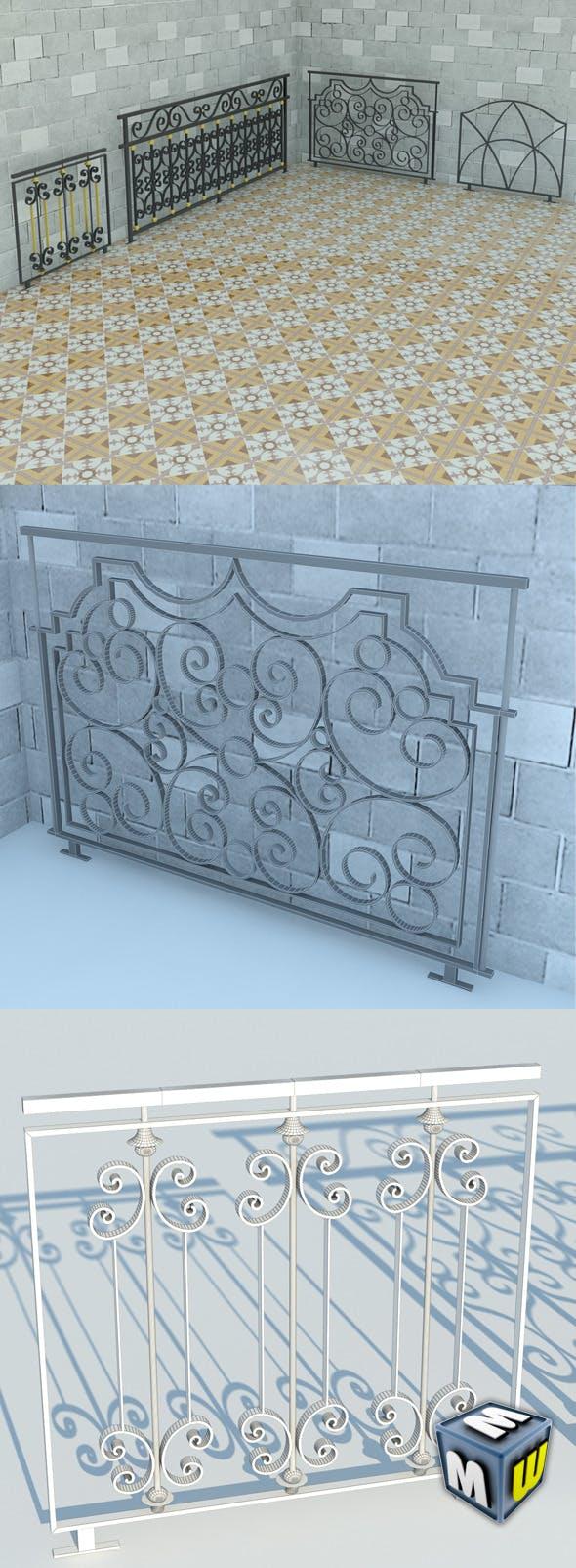 Railing Art Max 2011 - 3DOcean Item for Sale