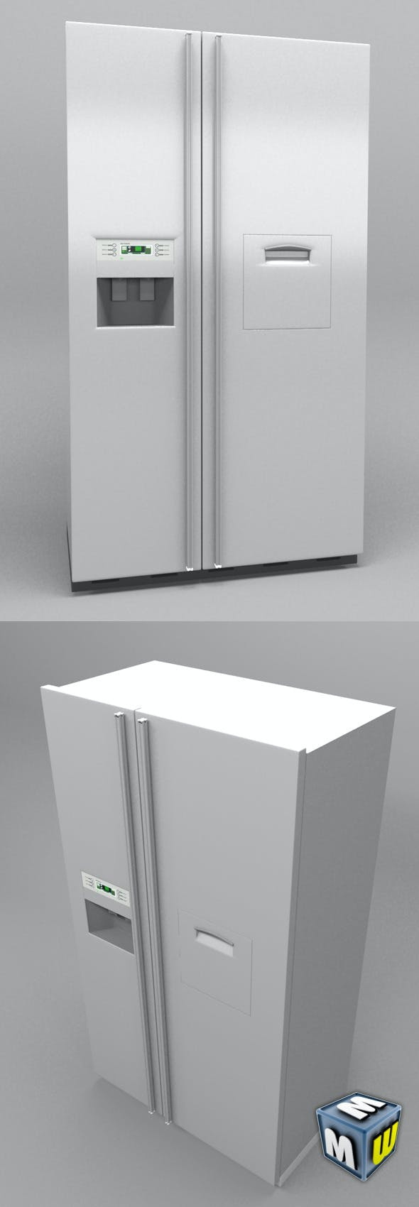 Refrigerator Kitchen - 3DOcean Item for Sale